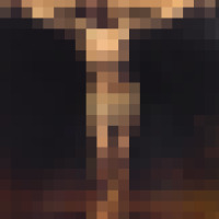 the crucifixion pixelated1
